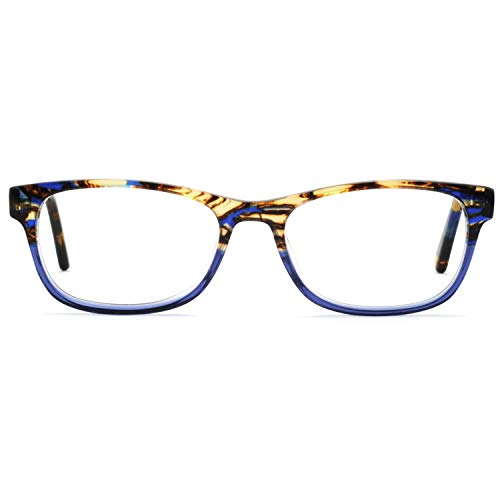 OCCI CHIARI Colored Stylish Glasses Frame Non-Prescription Eyewear Frame with Clear Lenses Gifts for Women