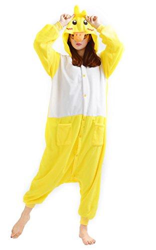 Imagen de dato ropa de dormir pijama pato amarillo cosplay disfraz animal unisexo adulto