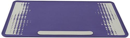 Heathrow Scientific HEA120507 Labormatte, 35 cm x 60 cm, 2 mm hoch, 1 Seite: Violett; 2 Seite: Graues Design mit Violettem Hintergrund