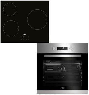Beko - Conjunto de horno multifunción + placa de inducción  bse22341x
