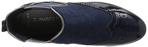 Marco Tozzi 25403, Bottes Chelsea Femme Bleu (Navy Comb 890)