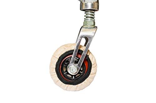 RehaDesign-Rollstuhlsocken: Überzug für die Reifen der kleinen Vorderräder (Lenkräder) von Rollstühlen (8 inch diameter)
