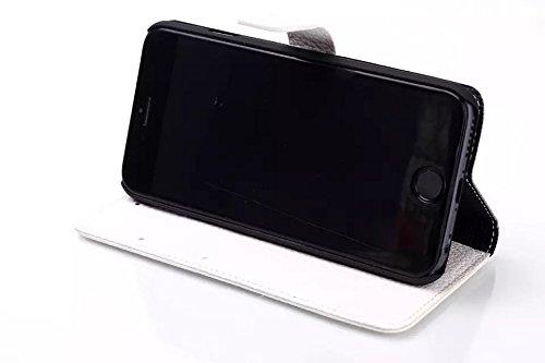 """inShang iPhone6 Coque 4.7"""" Housse de Protection Etui pour Apple iPhone 6 4.7 Inch, le style Folio cuir PU de premiere qualite, + Qualite Pens Haute Stylet capacitif A WHITE"""