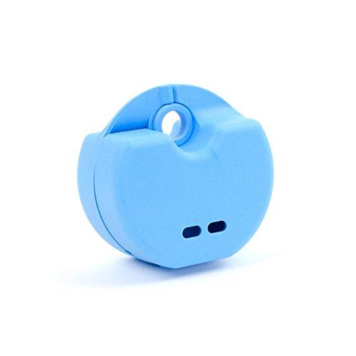 StellaPlast SP-221054hellblau Spangendose mit Schnappverschluss zur sicheren Aufbewahrung von kieferorthopädischen Apparaturen, Knirscherschienen/Prothesen, 5,0 cm x 7,7 cm x 4,0 cm
