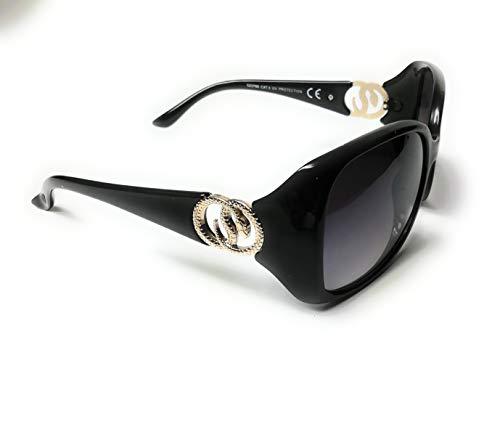 KGM Accessories Damen Sonnenbrille Schwarz