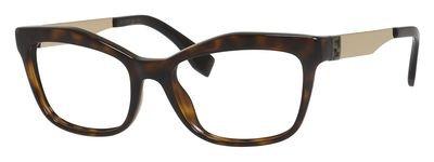 Fendi montatura di occhiali 0050per donna black/ruthenium, (pgm: tortoise / gold), 53 mm