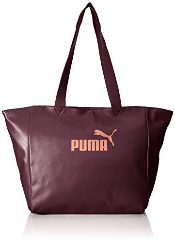 Puma WMN Core Up Large Shopper Bandolera, Mujeres, Vineyard Wine-Metallic, OSFA