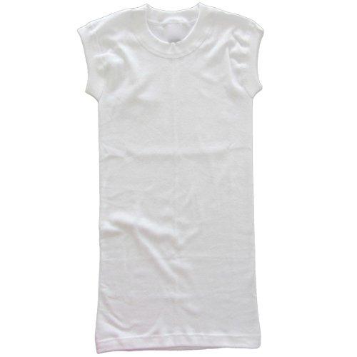 HERMKO 99384910 2er Pack Korsett Unterhemd mit Rundhals-Ausschnitt ohne Seitennaht aus 100% Baumwolle Weiß