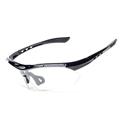 Daesar Sicherheitsbrille Damen Sonnenbrille Schwarz Weiß Motorradbrille für Herren