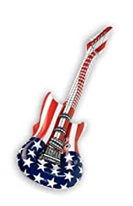 eine aufblasbare Gitarre Luftgitarre USA Stars & Stripes Rockgitarre