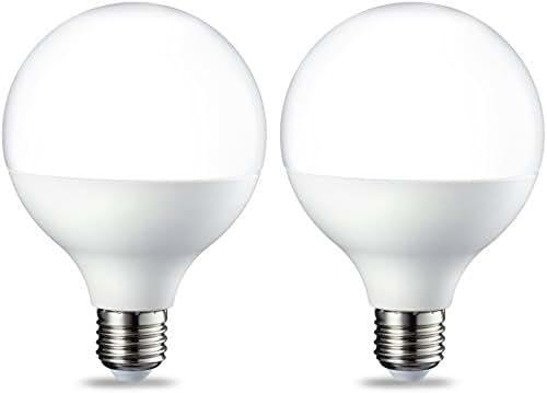 AmazonBasics Ampoule LED Globe E27 G93, 14.5W (équivalent ampoule incandescente de 100W), blanc chaud -