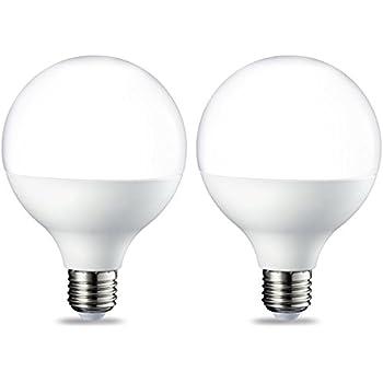 AmazonBasics Bombilla LED Globo E27, 14.5W (equivalente a 100W), Blanco Cálido