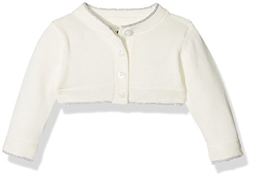 NAME IT Baby-Mädchen Strickjacke Nitfihalo LS Knit Bolero F NB, Grau (Snow White), 86 White Knit Cardigan Pullover