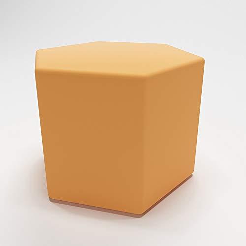 XF Nordic Kreative Farbe Polygon Kleine Hocker Modernen Bekleidungsgeschäft Büro Sofa Bank Hause Stoff Rest Hocker, 40 cm X 40 cm X 40 cm Möbel (Color : D) - Wohnzimmer Modernen Futon-rahmen