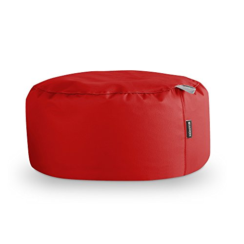 HAPPERS Puff Redondo Polipiel Indoor Rojo