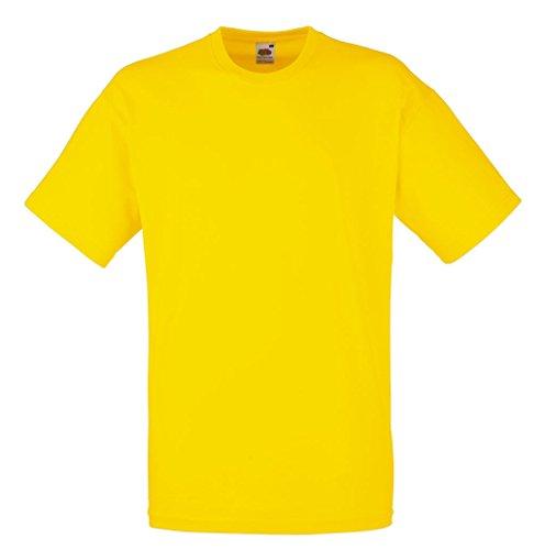 Fruit of the loom - maglietta sportiva -  ragazzo giallo s