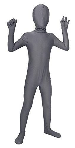 Sheface Kids Spandex Full Bodysuit Fancy Dress Costume (Medium, Dark ()