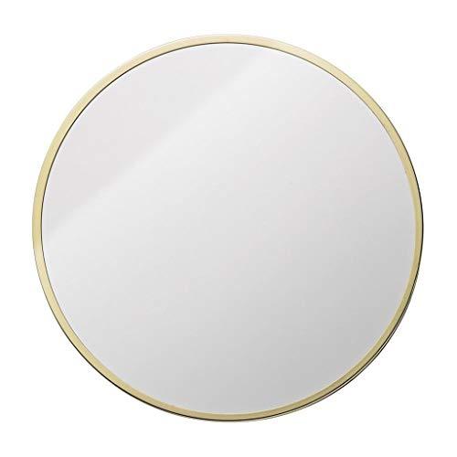 Spiegel - Runder an der Wand befestigter Badezimmerspiegel, Hauptmetallrahmenspiegel, nordischer unbedeutender Stil (Farbe : Gold, größe : 70cm)