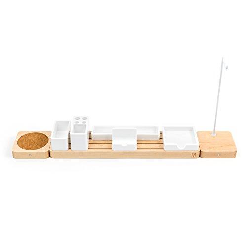 Schlafzimmer Ahorn Schlafzimmer-set (Ugmonk Modulare Schreibtisch-Organizer aus Holz, minimalistischer Schreibtisch-Sortierer - Organisieren Sie Ihren Arbeitsbereich, Bürobedarf, Küche oder Schlafzimmer Extended Set maple)