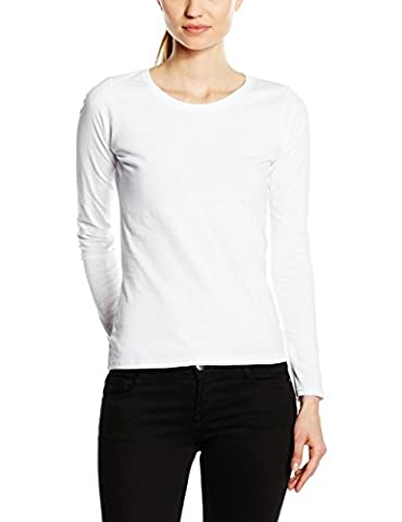Fruit Of The Loom Women's SS047M T-Shirt, White, 10 (Manufacturer