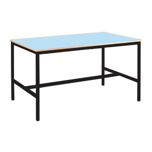 diseño de Dura color azul Mesa de ecuación Metalliform EQUPR-11C-PS-BL-76-LG-Summer