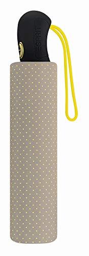 Esprit Easymatic 3-section light Neon Dots yellow 50590 Regenschirm Taschenschirm Grau-Gelb getupft