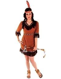 Indianer-Kostüm - Squaw - Wilder Westen - für Damen/Erwachsene
