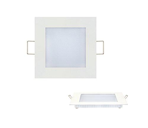 Slim Flach Watt Slim Flach LED Panel milch Glas Unterputz Einbauleuchte Einbaulampe Deckenleuchte Deckenlampe Lichtpanel Lampe Eckig 120x120 mm 6w Neutralweiss -