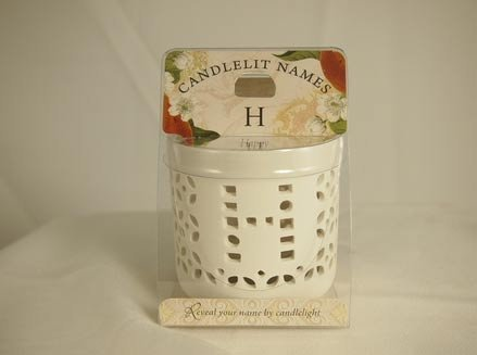 History & Heraldry Candlelit Names - H - Tea Light Lite Candle 001850089-HH by History & Heraldry