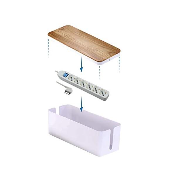 Electraline-300177-Scatola-Organizzatore-Cavi-con-Multipresa-6-posti-Polivalenti-Schuko-1016A-cavo-15m