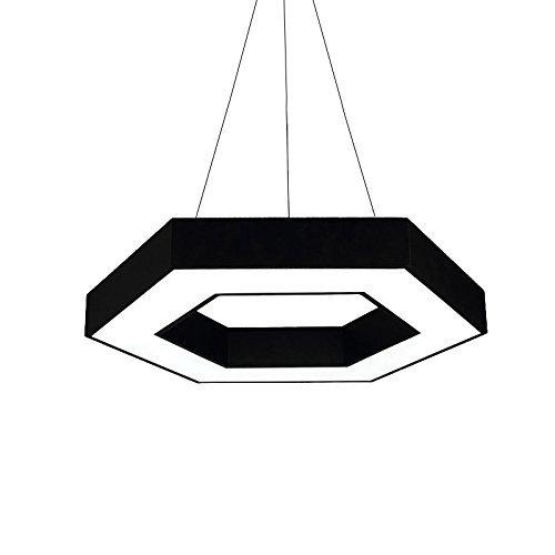 Kronleuchter, Bürobeleuchtung Einfache Hexagon Restaurant Leuchten Schlafzimmer Licht Couture Internet CafÉ Led sechseckige Kronleuchter Geometrische weißes Licht kreatives Engineering Lampen 40-80 cm Wählen Sie (Größe: D 40 Cm)