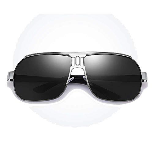 ZGQ Sonnenbrillen Für Männer, Herren Polarisierte Gläser, UV Blendschutz Augenschutz Mode Klassische Outdoor Freizeit Fahren Brillen,Silver/Gun/Black