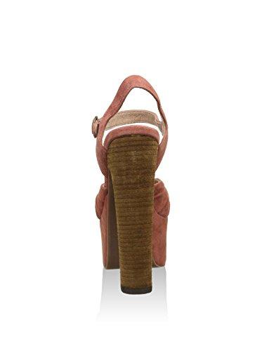 Sandalen mit Absatz von Jeffrey Campbell Donnas aus Wildleder in Rosa Nero (Black)