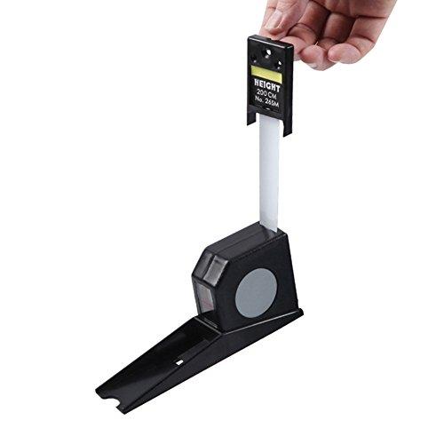 Preisvergleich Produktbild Maßband zur Ermittlung der Körpergröße,  Erwachsene und Kinder,  bis 2 m,  flexibler Rolle,  rechter Winkel.