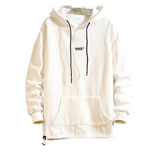 ➤Refill➤Herren Hoodie Pullover mit Kapuze Unisex Kapuzensweater 19D Druck Hoodie Kapuzenpullover Langarm Sweatshirt Kapuzenjacke mit Taschen Jumper Oberteile