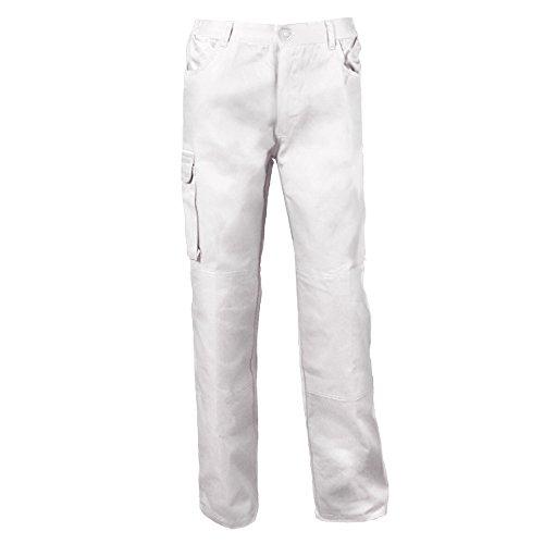 Pantalons de travail pour hommes, blancs, grandes tailles jusqu'à 3ХL, appropriés pour la peinture, plâtrerie et autres