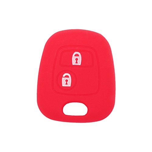 fassport Silikon Cover Haut Jacke Fit für Peugeot CITROEN 2Tasten Fernbedienung Schlüssel ohne Emblem cv9304