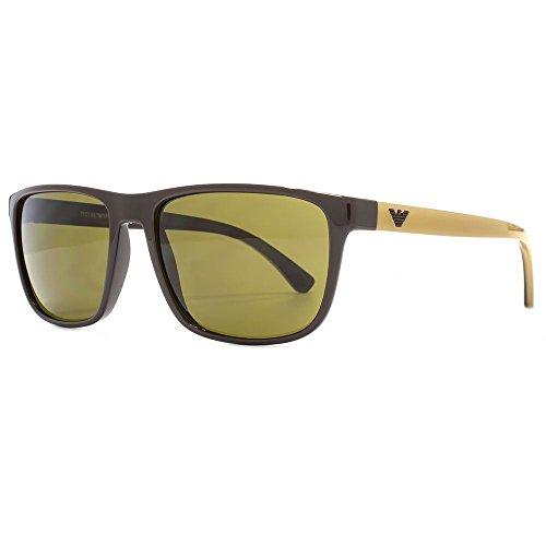 Emporio Armani Simple Square Sunglasses in Brown EA4087 556273 57