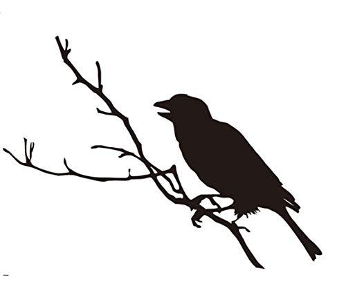 Wandaufkleber PVC Silhouette Vogel Ruhen In Einem Zweig Vinyl Art Home schlafzimmer Dekor Abnehmbare Abziehbilder Wasserdicht Selbstklebend -