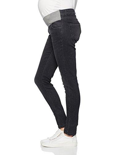 bellybutton Damen Umstandsjeans Jeans Slim mit Überbauchbund Grau (Grey 0016)