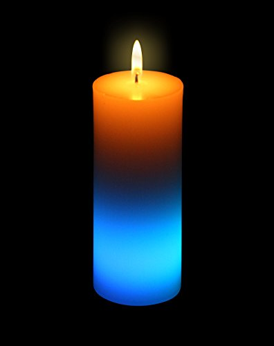 Olympia LED Echtwachskerze mit LED Farbwechsler Zylinder