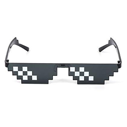 Runrain Thug Life - Gafas de sol para mujer, co...