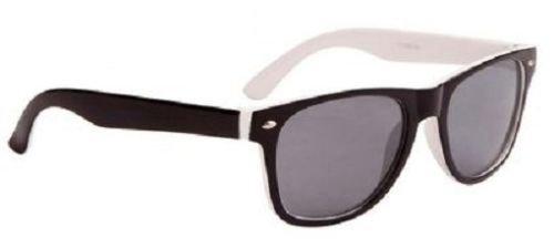 Weiß Wayfarer Sonnenbrille zweifarbig Kühle Farbtöne Kinder Junge Mädchen 100% UV Protect 66