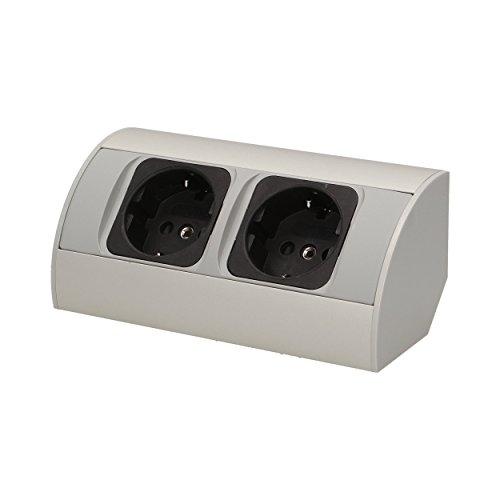 Möbel-Steckdose , Schuko Variante, Küchen Steckdosen Möbel Unterbausteckdose, OR-AE-1303(GS) -