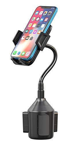 Cocoda Autohalterung für Getränkehalter, 360° Drehung Handyhalterung Auto für Becherhalter, Universal KFZ Handy Halterung mit Flexibler Hals für iPhone XS Max/XS/XR/X/8/7, Samsung, usw. (Schwarz) - 3.42 Ein Auto