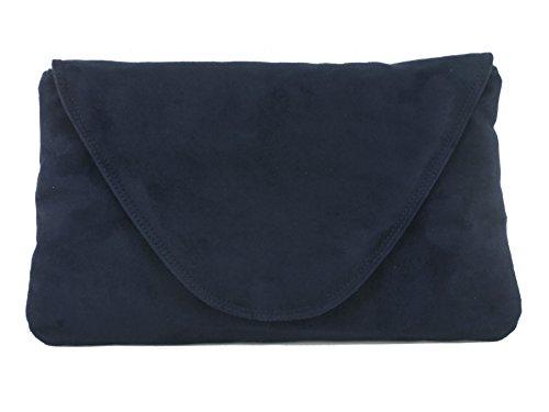 Attraente grande arte, Clutch Bag Borsa a tracolla/shulter matrimonio partito tasca marine dunkelblau