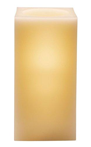 Dana Kerze (LED Echtwachskerze Kerzenlicht Kerze Wachs Batterie - Quadratisch)