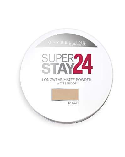 Maybelline New York Polvos Compactos Superstay 24H (Larga duración), Tono 40 Fawn