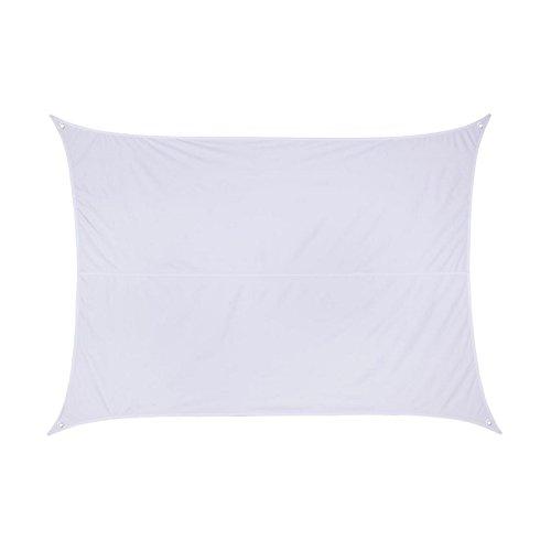 Toldo vela parasol rectangular 3 x 4 m - Color BLANCO