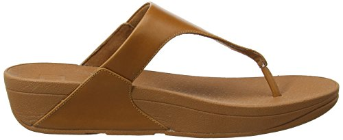 Fitflop Skinny Toe-Thong Sandals-Leather, Sandali Punta Aperta Donna Brown (Caramel)
